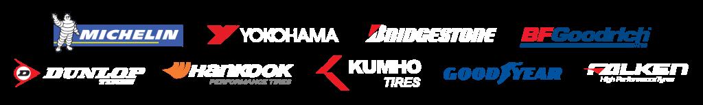 Michelin   Yokohama   Bridgestone   BFGoodrich   Dunlop   Hancook Performance Tires   Kuhmo Tires   Goodyear   Falken High Performance Tyres